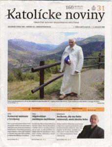 Titulní strana Katolíckych novin.
