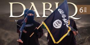Výřez z titulní strany časopisu Dabiq.