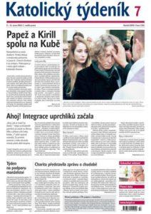 Titulní strana Katolického týdeníku.